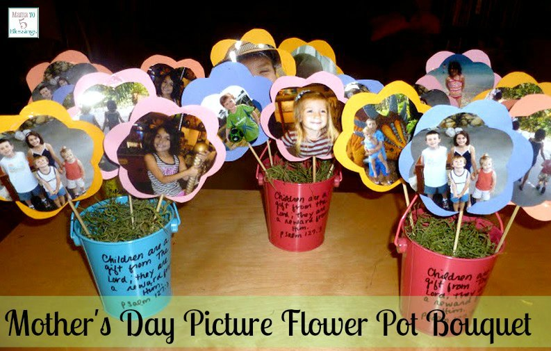 mothers day picture flower pot u