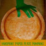 Handprint Paper Plate Pumpkin Kids Craft (Learn & Link)