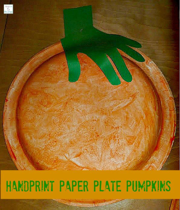 pumpkin handprint craft