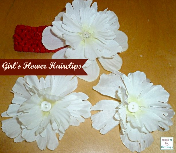 Diy flower hairbow tutorial girls flower hairclips mightylinksfo