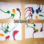 Salad Spinner Art / Learn & Link (linky)