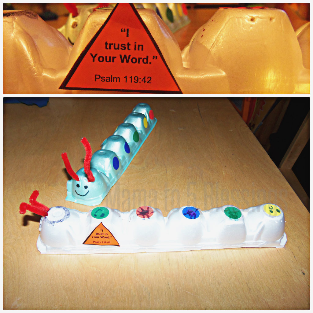 egg carton caterpillars 2