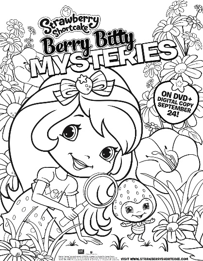 strawberry shortcake mysteries color page