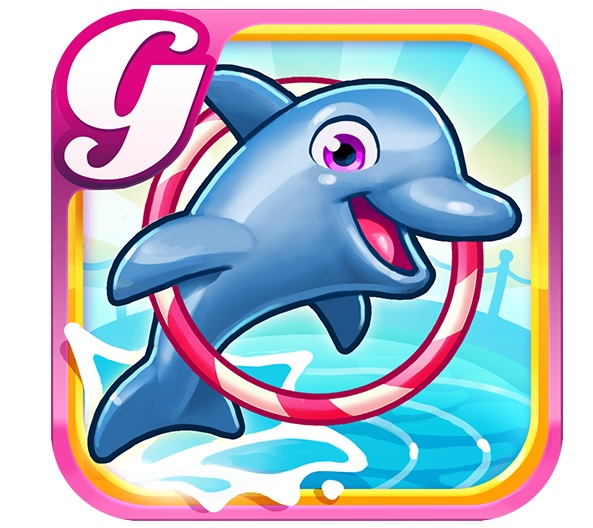 dolphin app game logo