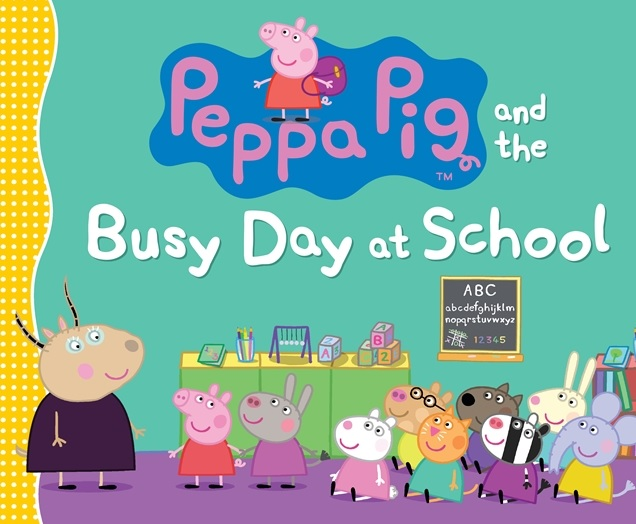 peppa pig busy day at school book