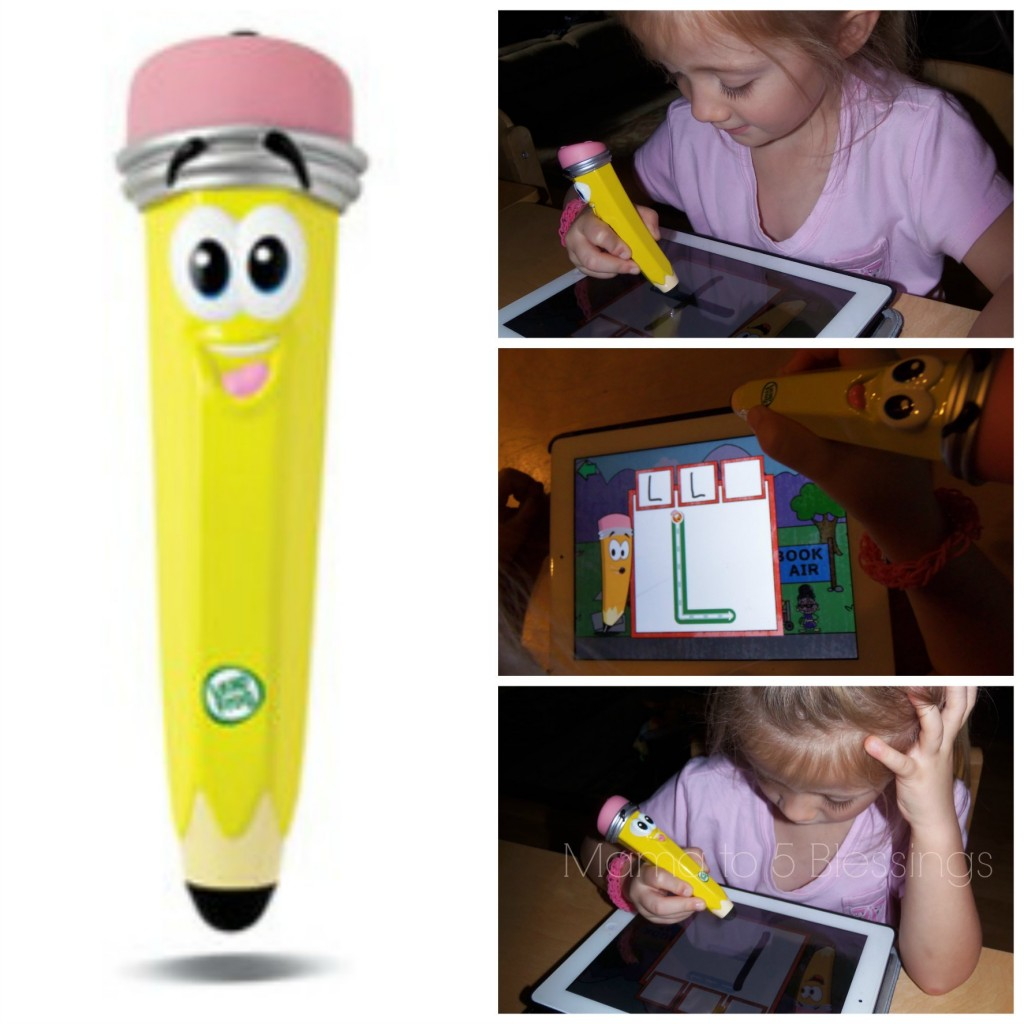leapfrog mr. pencil collage