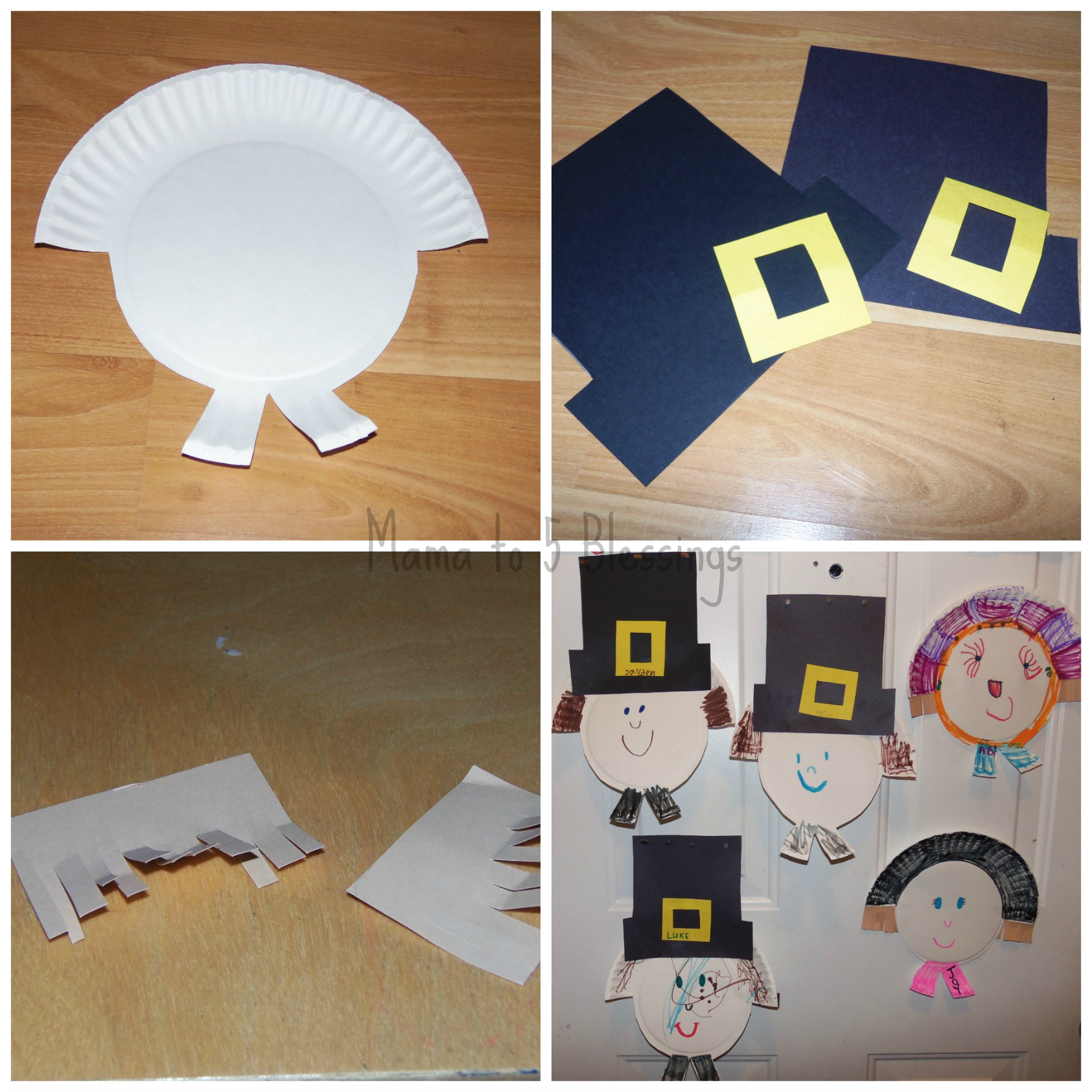 paper plate pilgrim how to & Paper Plate Pilgrim Craft (Learn u0026 Link With Linky) - Mama to 6 ...
