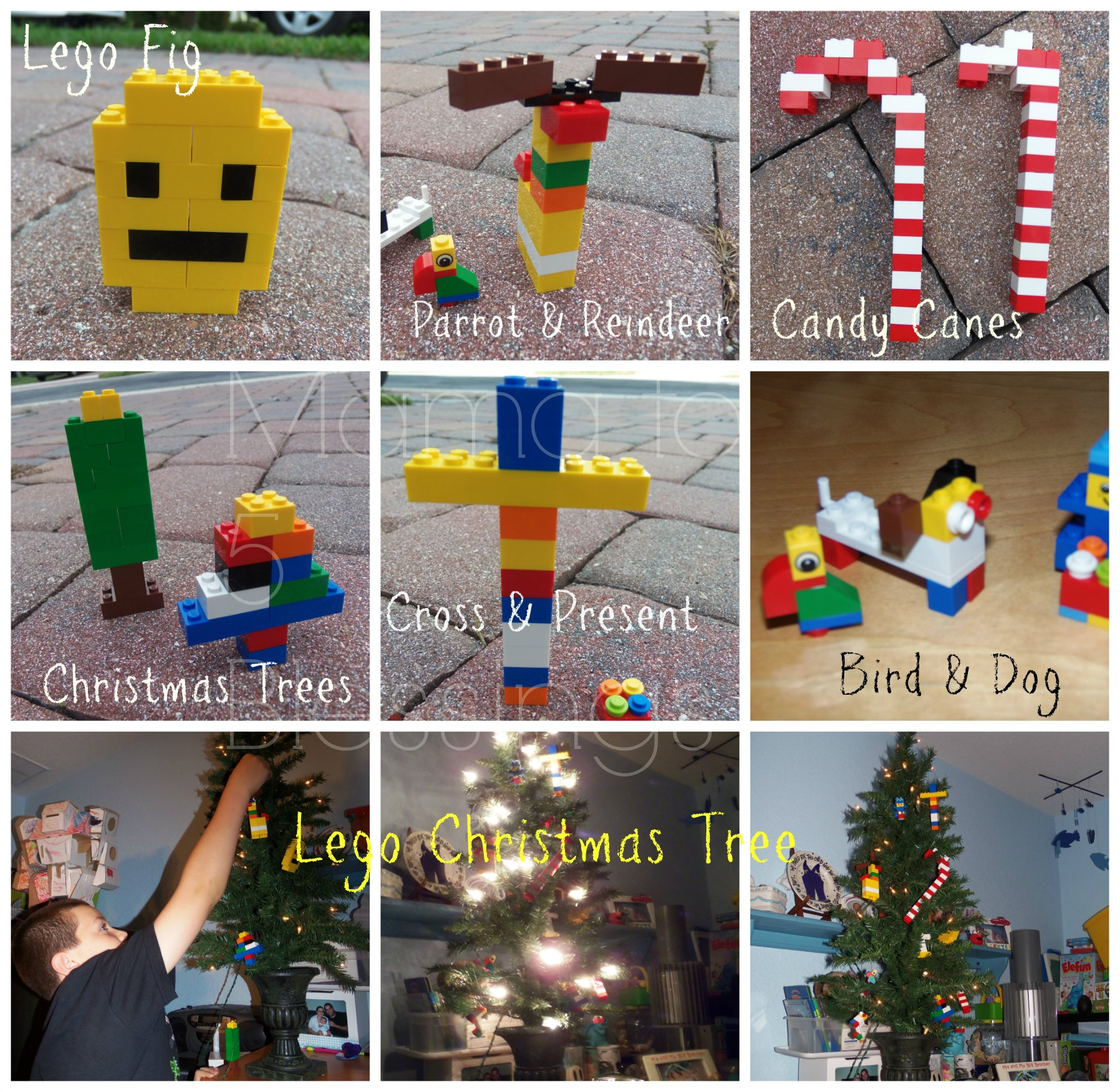 Themed christmas ornaments - Lego Christmas Ornament Collage