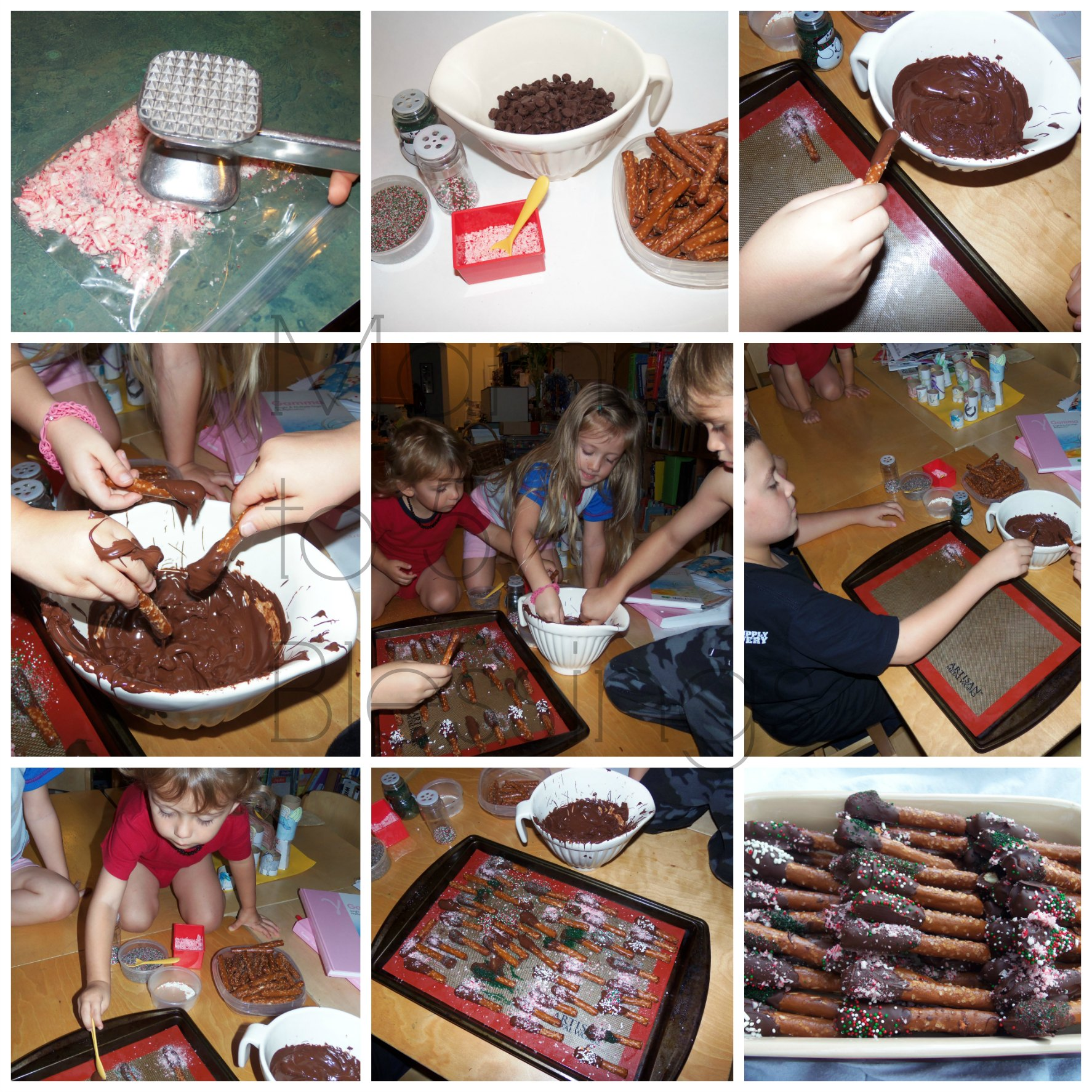 Chocolate Dipped Pretzels Recipe - Mama to 6 Blessings