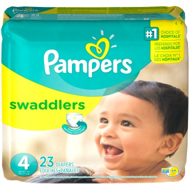 pampers swaddlers package
