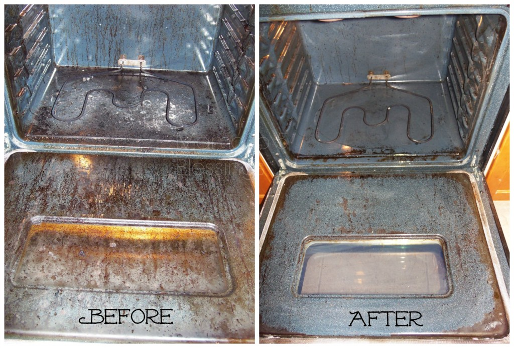 diy oven cleaner before after