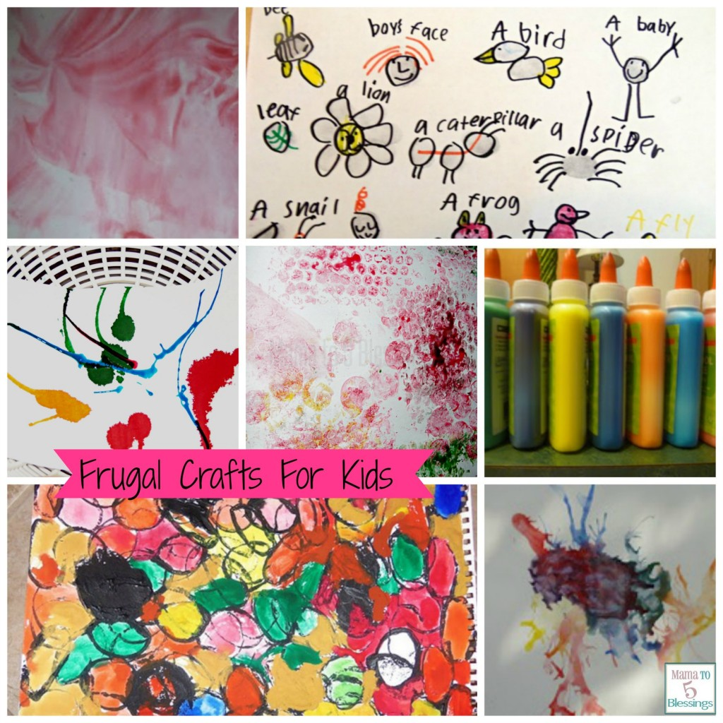 frugal kids art collage