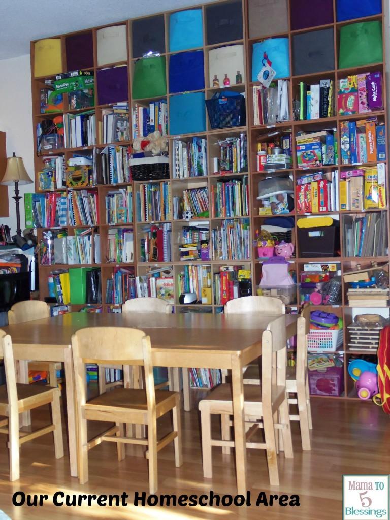 livingroom homeschool area