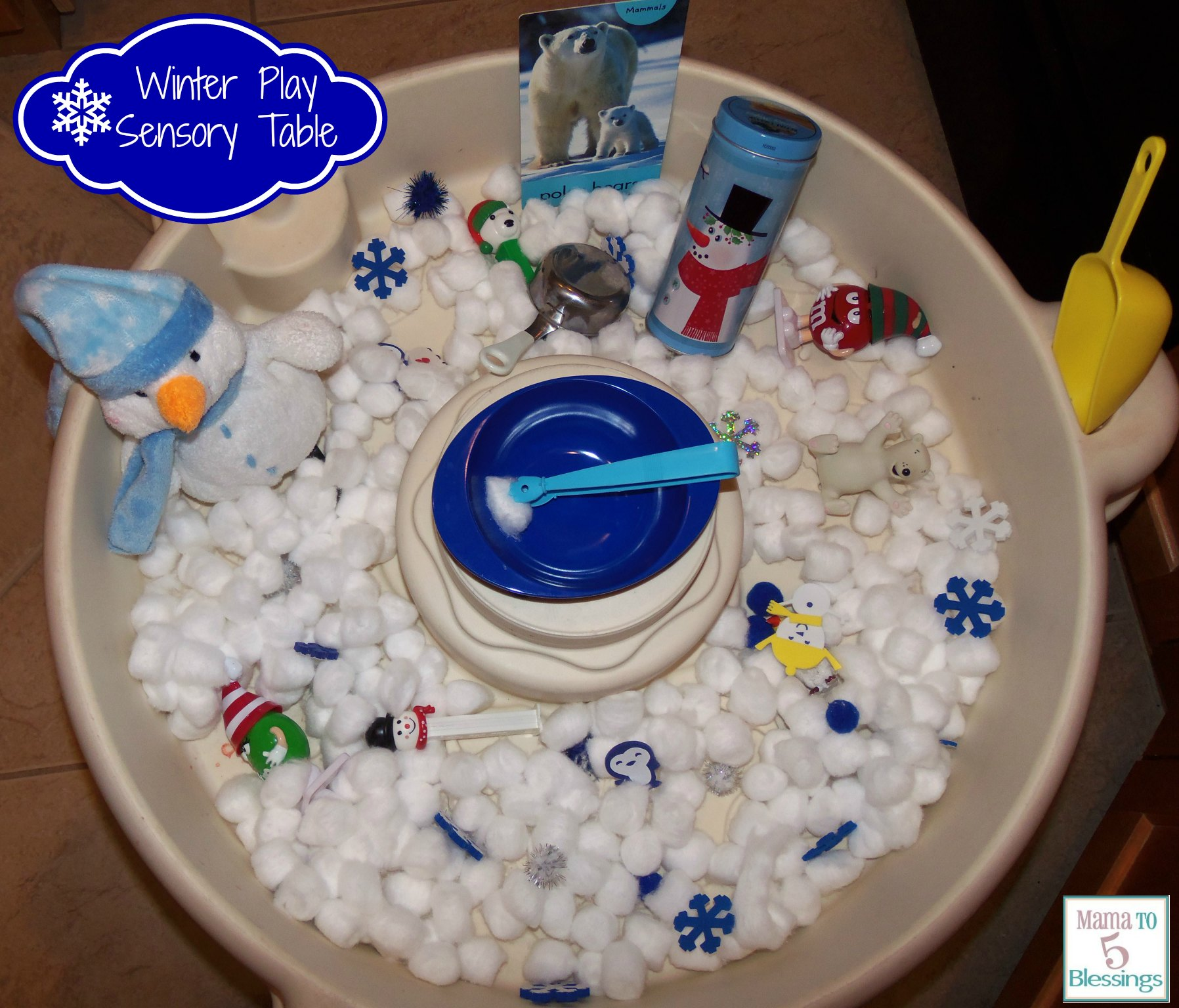 Winter Theme Play Table Learn Link With Linky Mama To