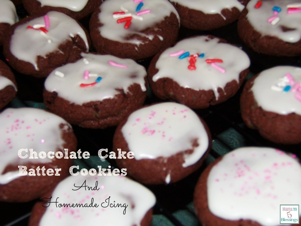 chocolate cake batter cookies main