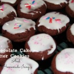Baking With Kids (Chocolate Cake Batter Cookies With Homemade Icing (Learn & Link With Linky)