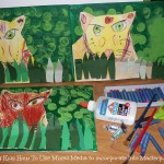 Teaching Kids How To Use Mixed Media to Incorporate Into Masterpieces (Learn & Link WITH LINKY)