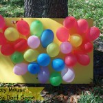 DIY Mickey Mouse Balloon Dart Board Game #DisneySide