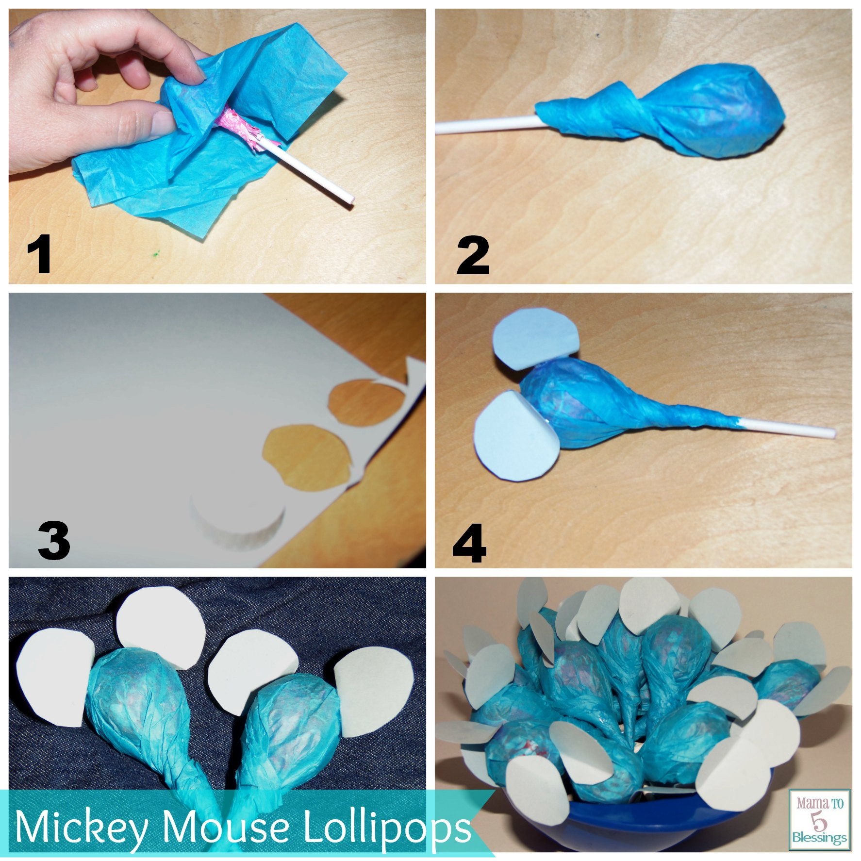 mickey mouse lollipop directions