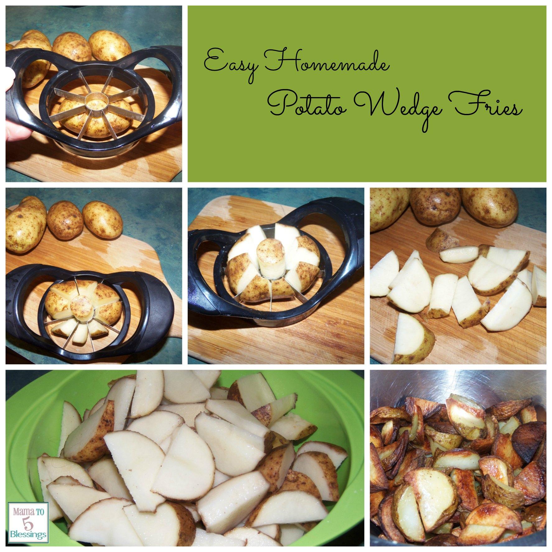 potato wedges collage