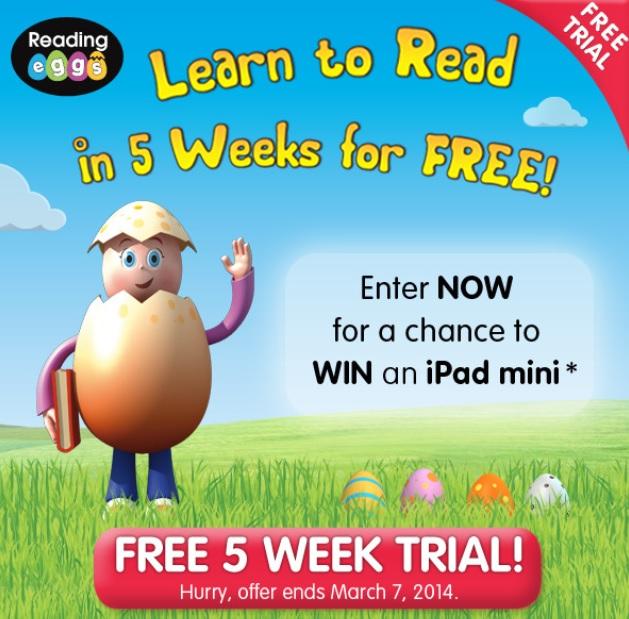 reading eggs 5 week trial