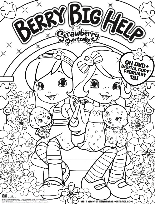 strawberry shortcake berry big help color pg