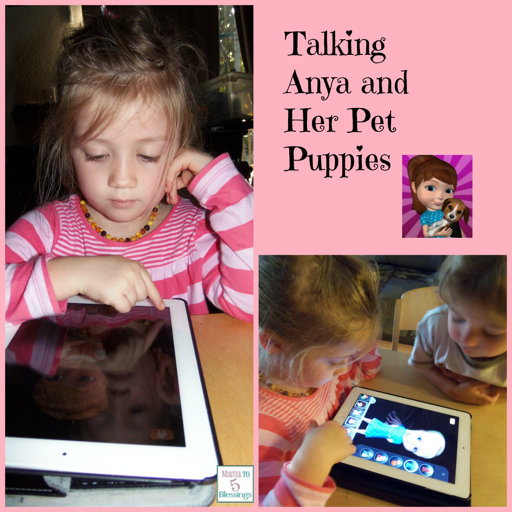 talking anya collage