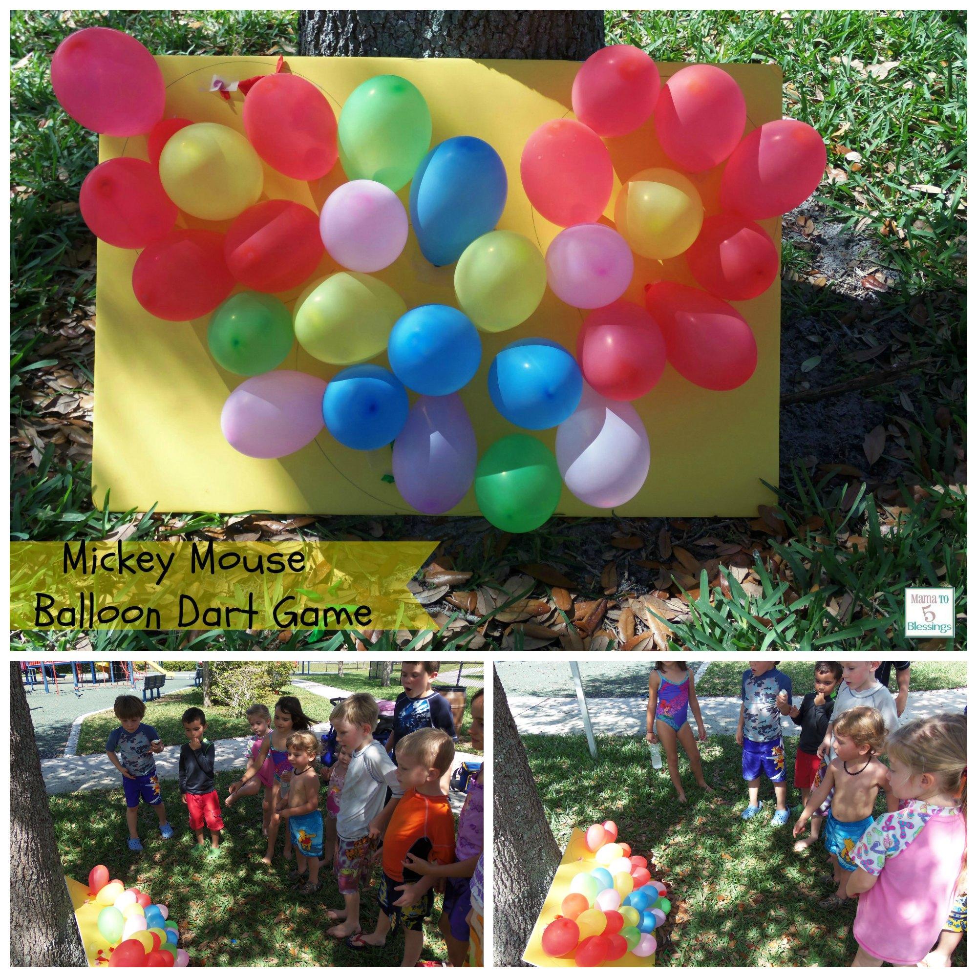 disney side balloon game