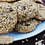 Easy Oatmeal Raisin Chocolate Chip Cookies