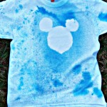 DIY Mickey Mouse Spray Silhouette T-Shirt #DisneySide