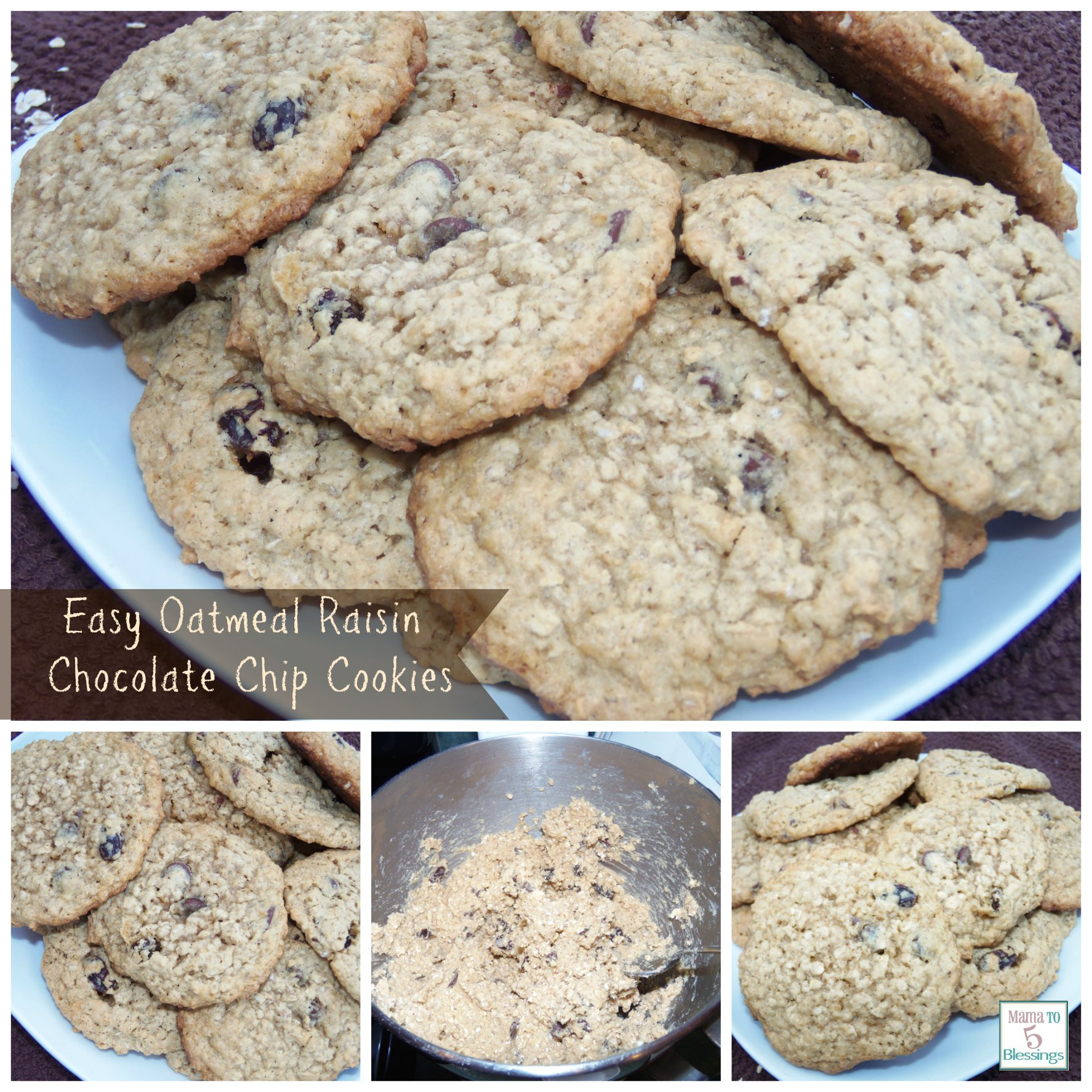 Inoffensive Oatmeal-Raisin Chocolate Chip Cookie Recipe ...