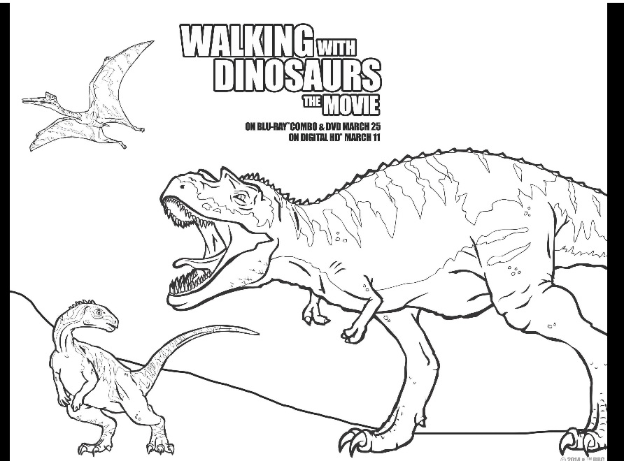 walking with dinosaurs color