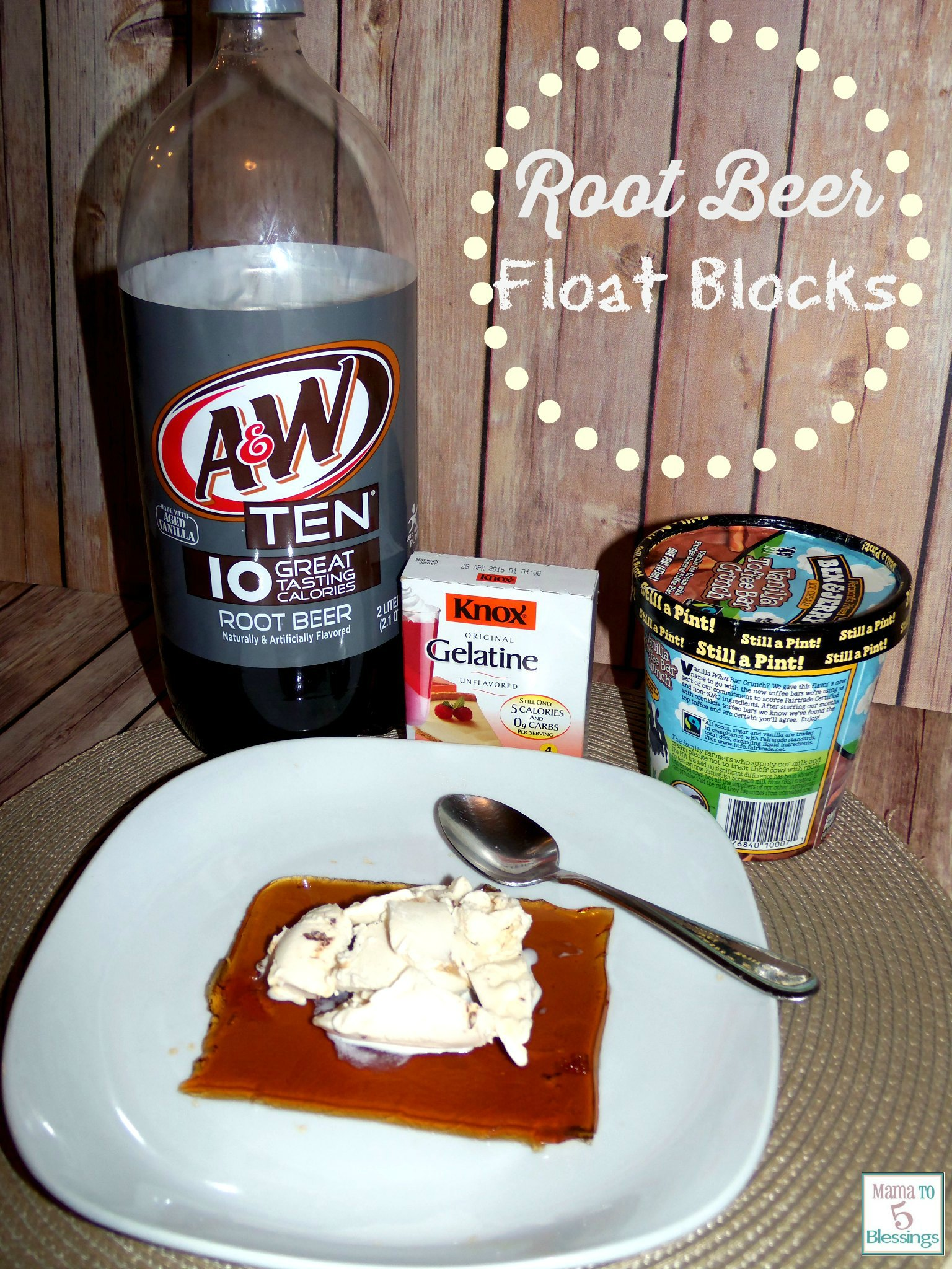 10 calorie root beer float blocks  pm