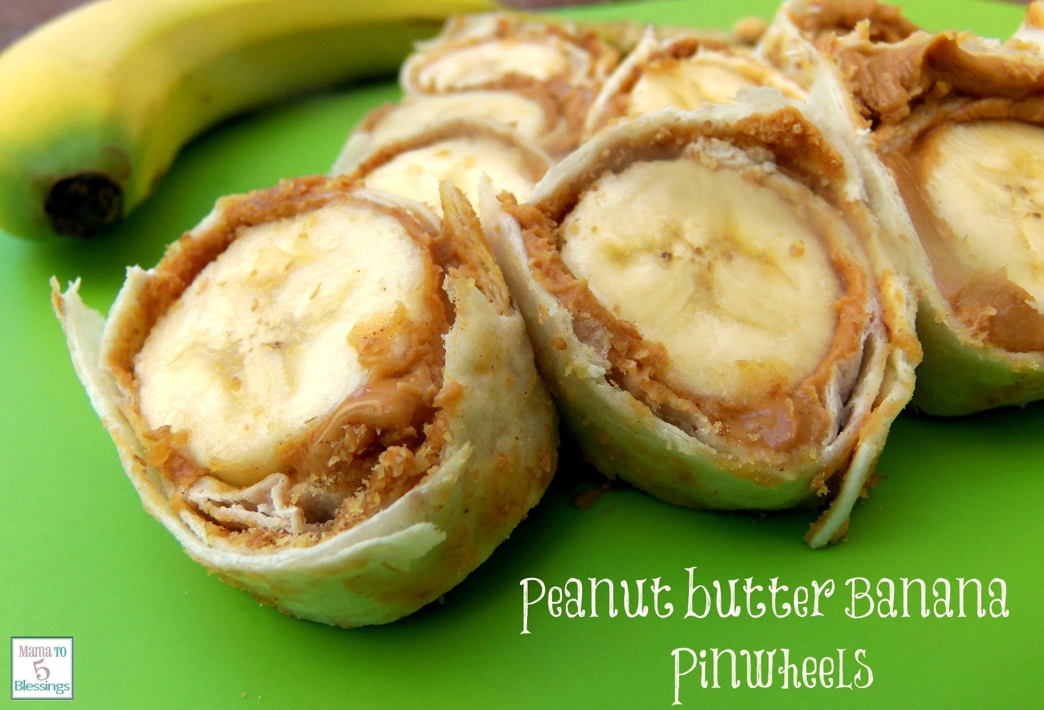 peanut butter banana pinwheels