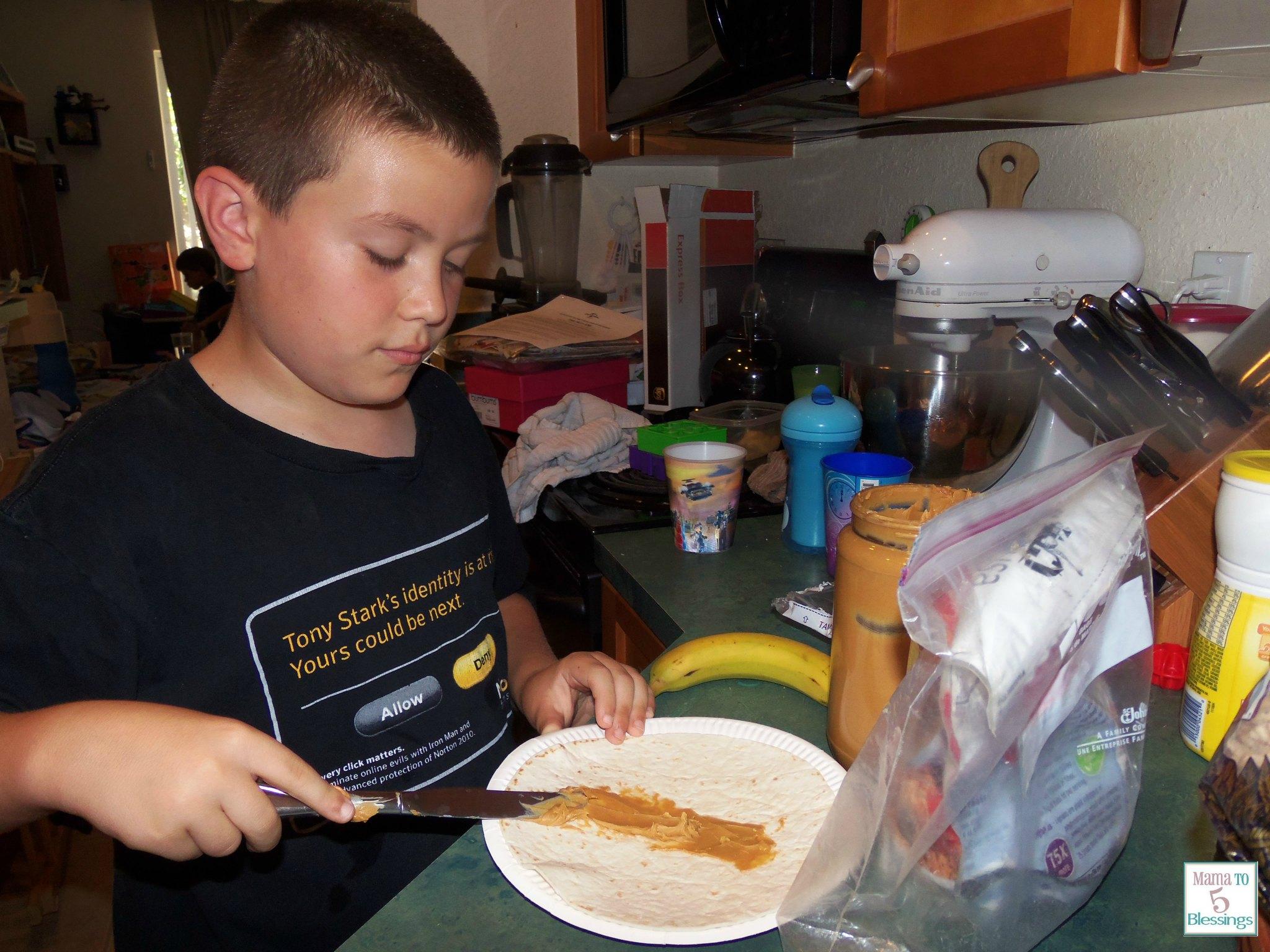 peanut butter pinwheels Jayden