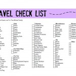 Printable Travel Check List