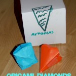 Origami Diamond Kids Paper Craft (Learn & Link With Linky)