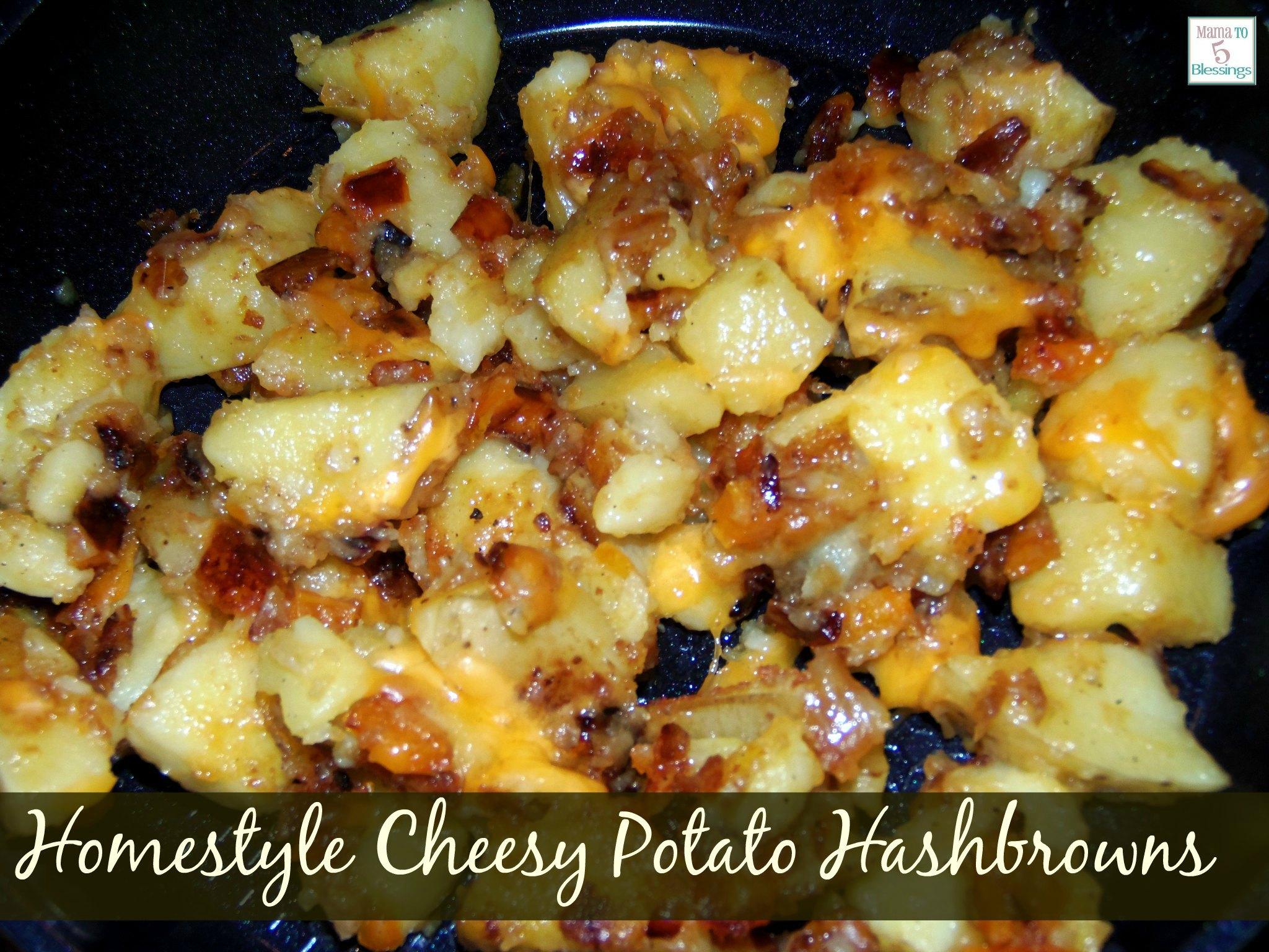 homestyle cheesy potato hashbrowns  u