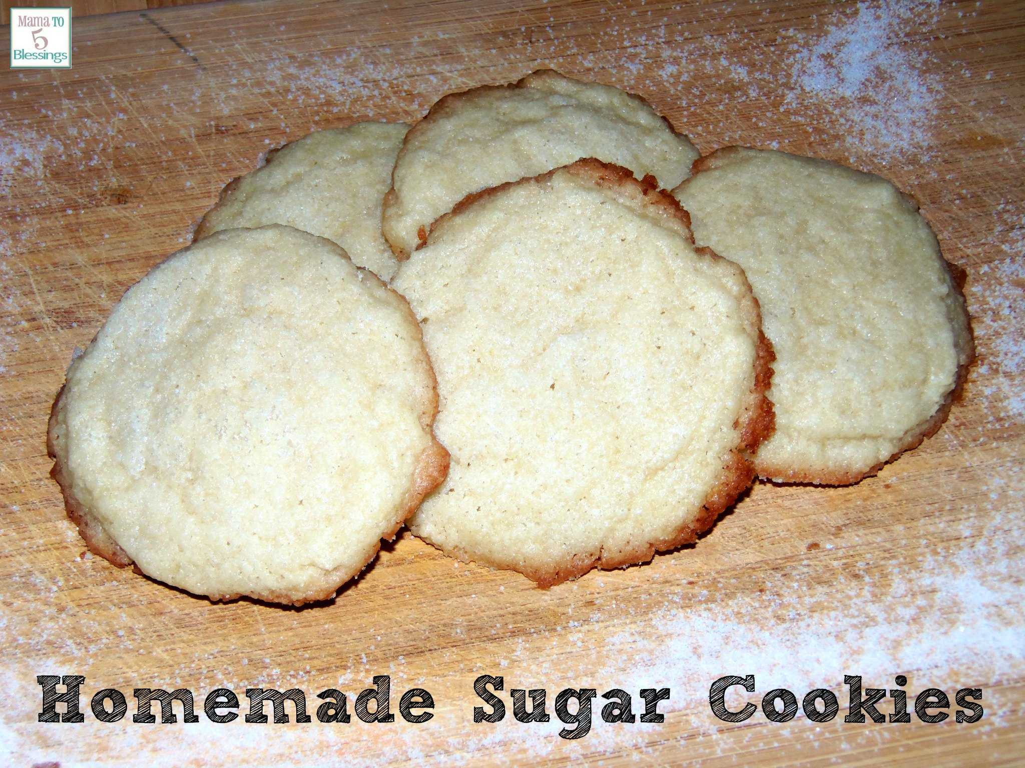 Baking Homemade Sugar Cookies With My Kids (Learn & Link With Linky)