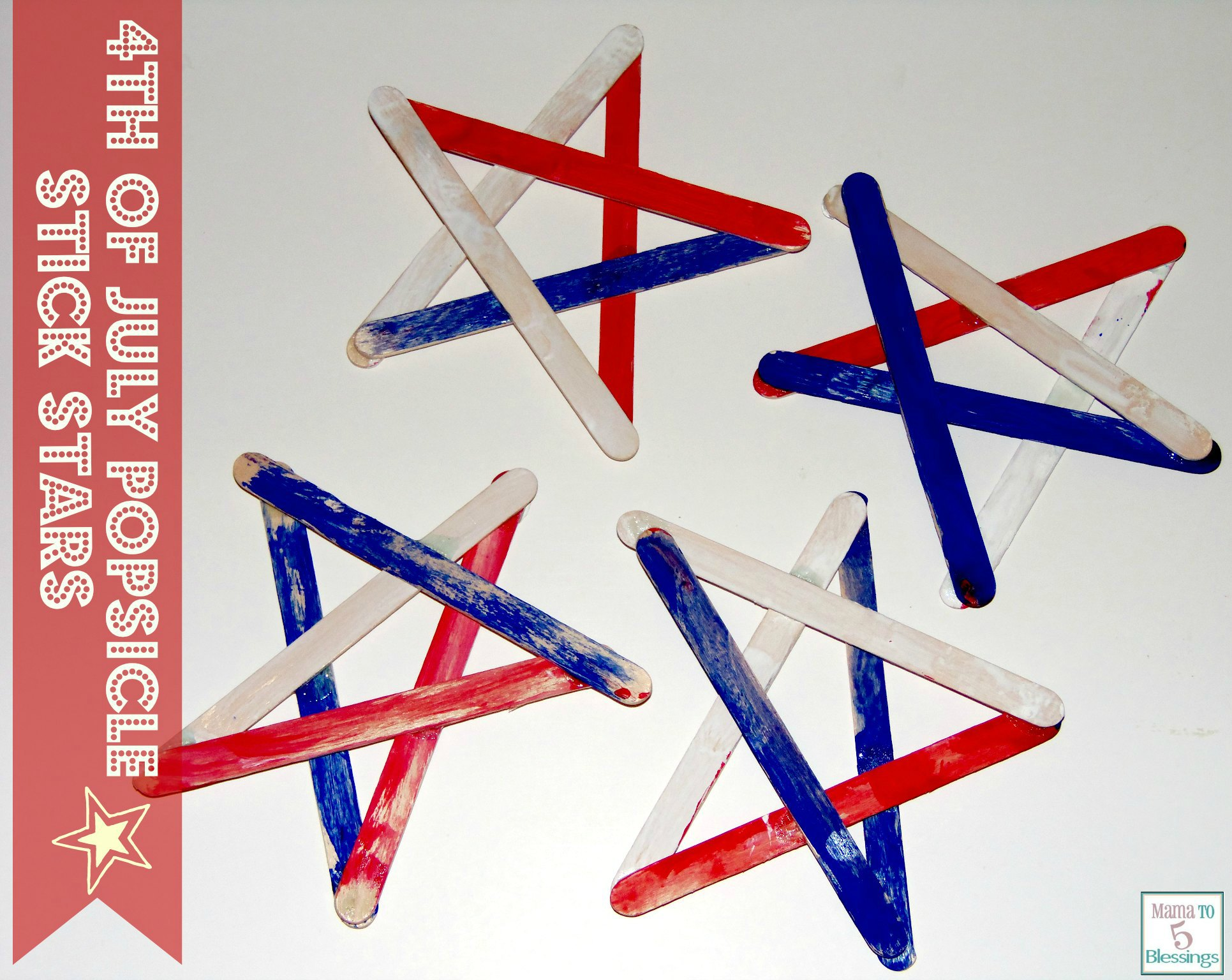 4th of july popsicle stars u