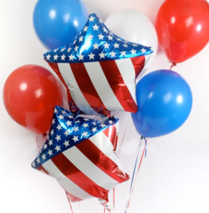 dollar tree 4th of july balloons