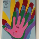Paper Handprints Keepsake Father's Day Gift (Learn & Link W/ Linky)