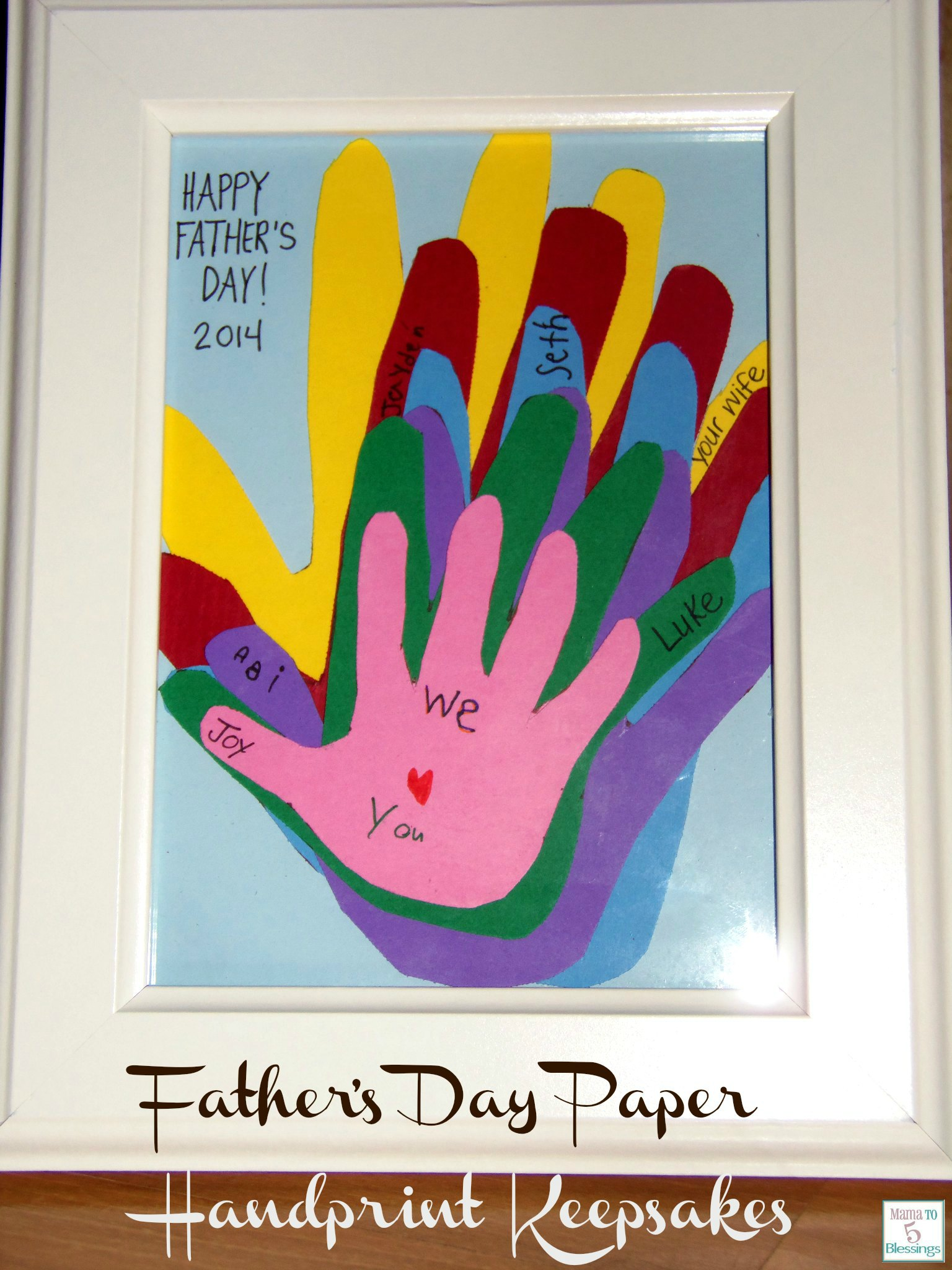 father's day hand craft  use