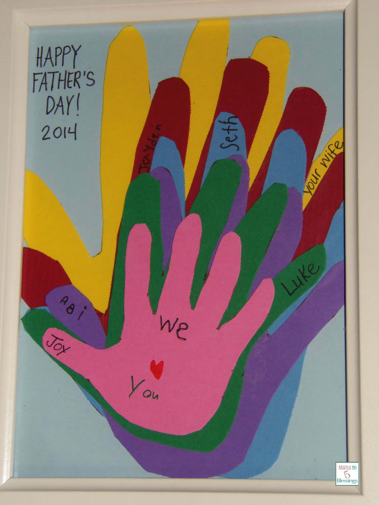 fathers day hand craft