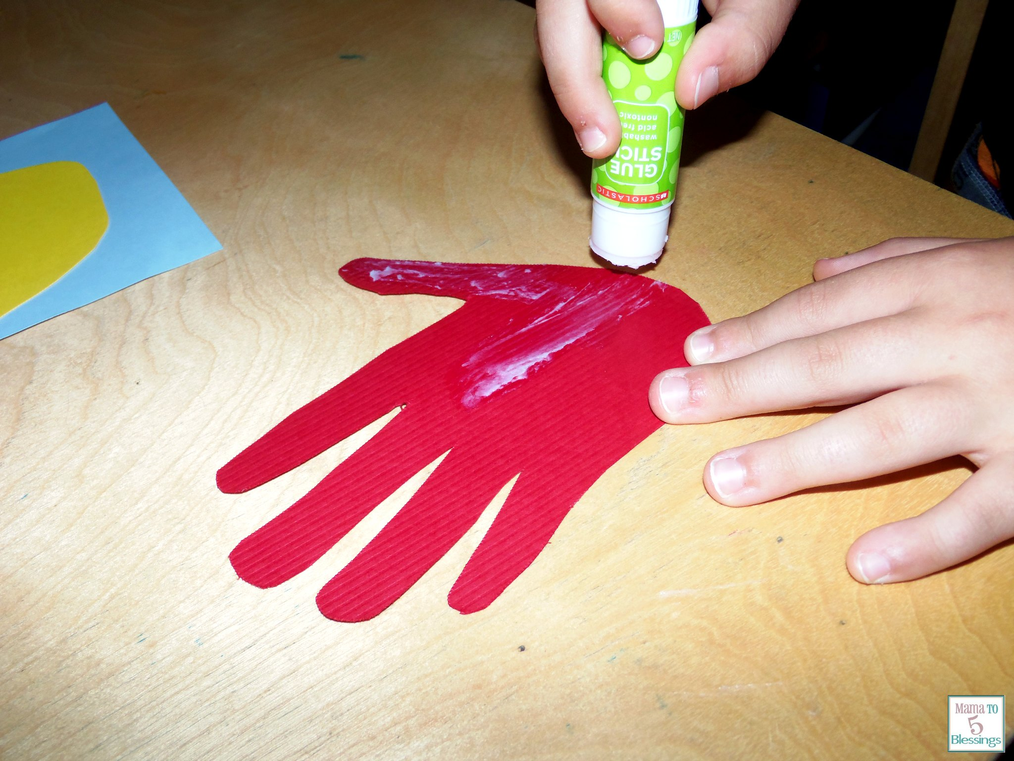 fathers day handprint glue