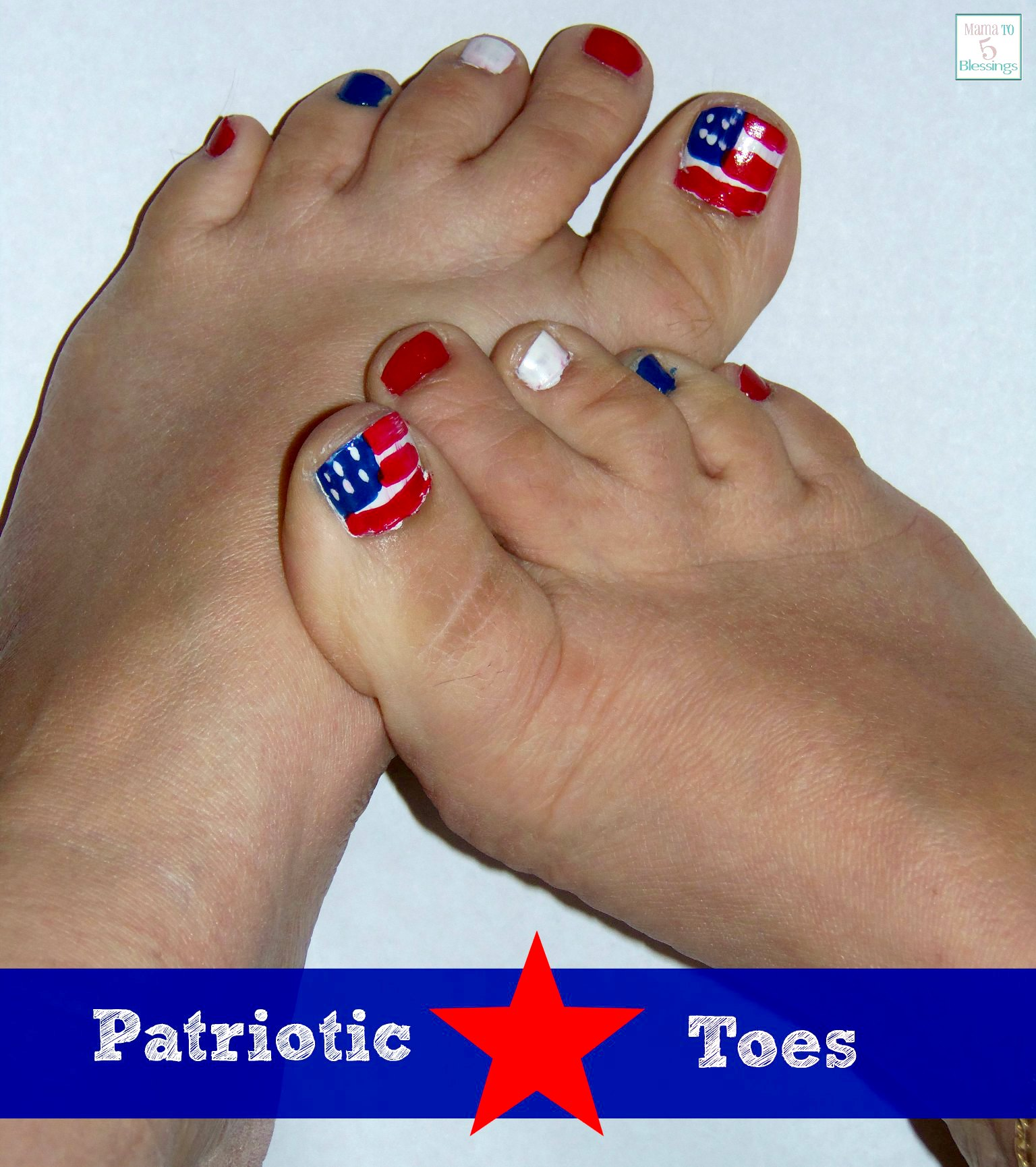 Patriotic / 4th of July Toe Nails
