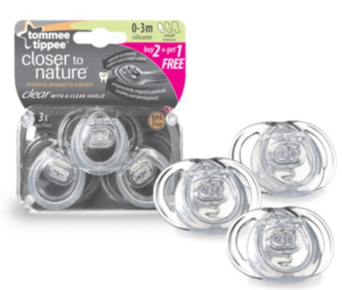 TOMMEE TIPPEE CLEAR PACIFIERS