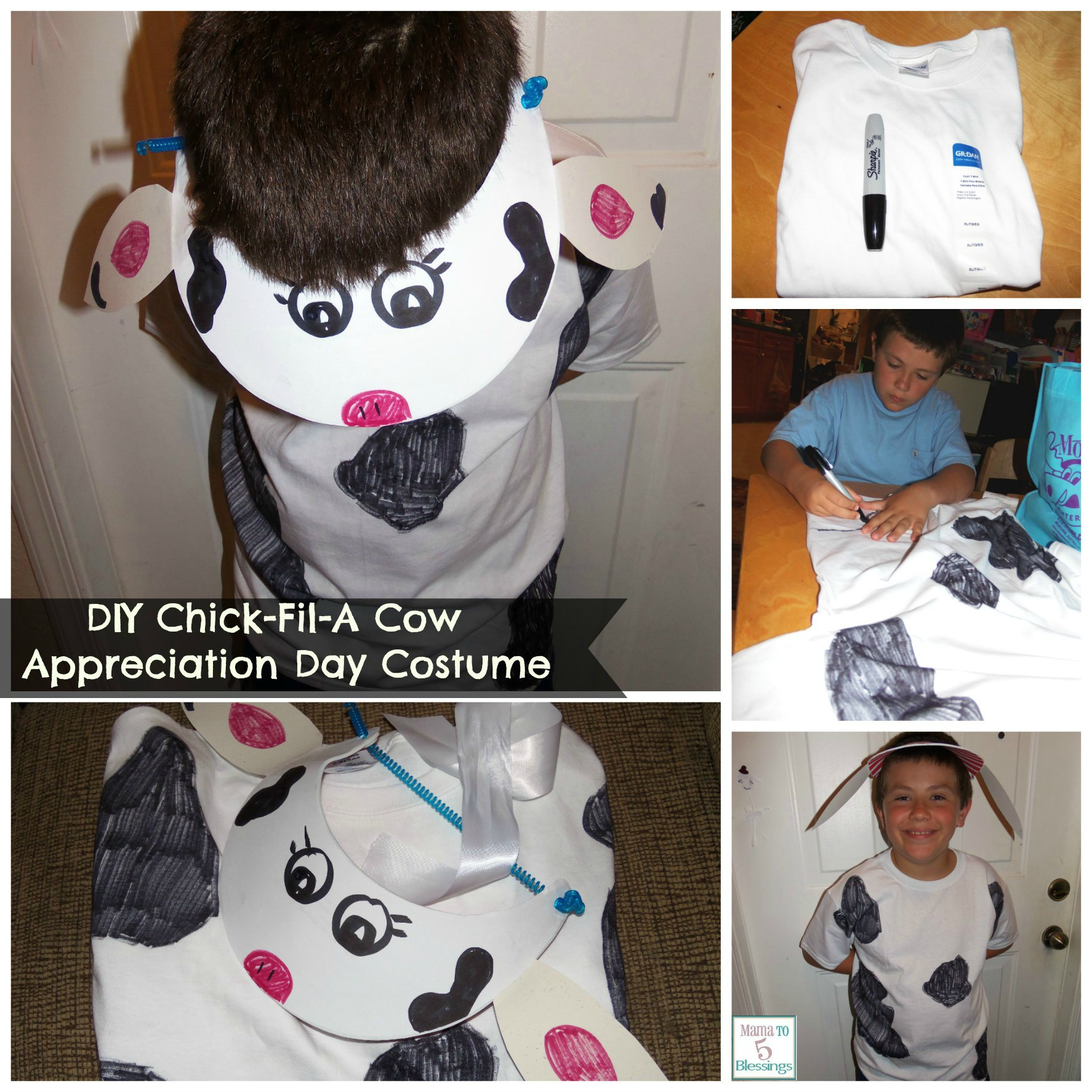 chick-fil-a costume collage use