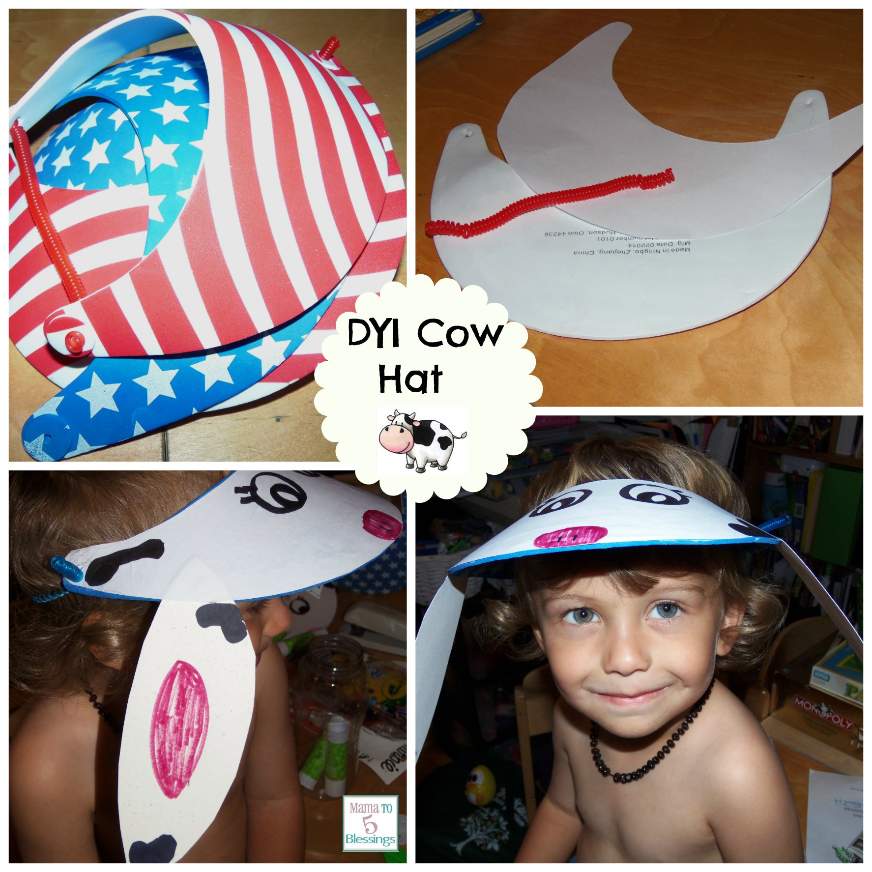 chick-fil-a cow hat collage use