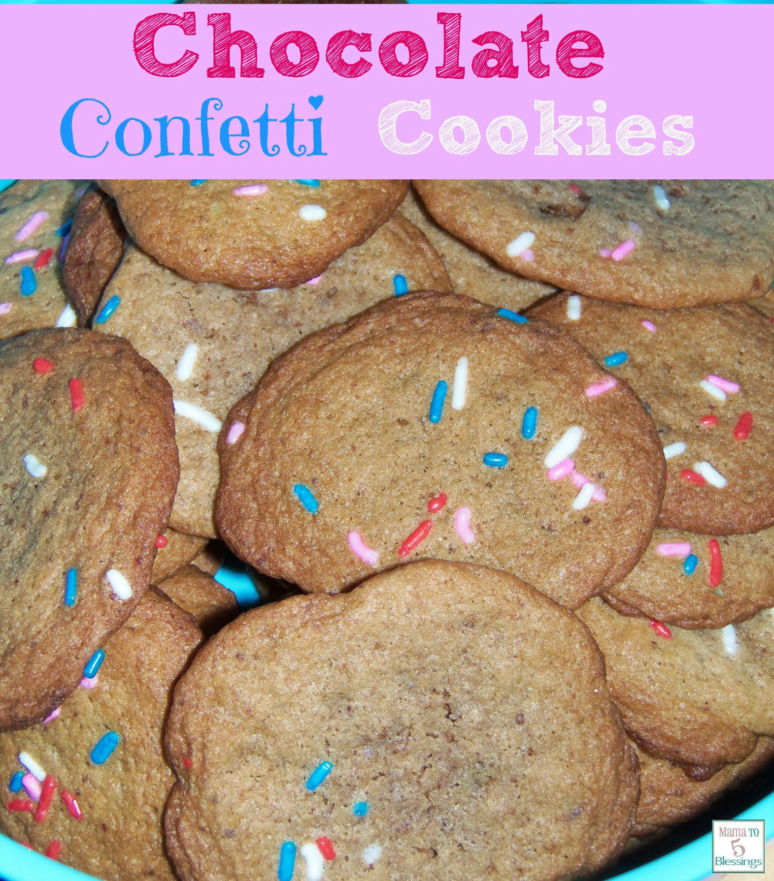 chocolate confetti cookies